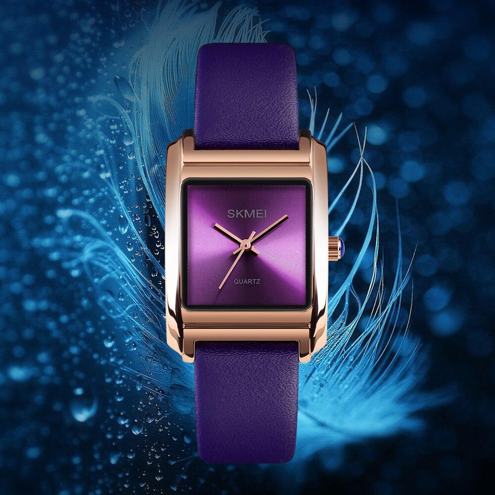 Image 2 - SKMEI Women Watches Leather Ladies Watch Quartz Top Brand Luxury Fashion Waterproof Clock Female Watch Women Relogio FemininoWomens Watches   -