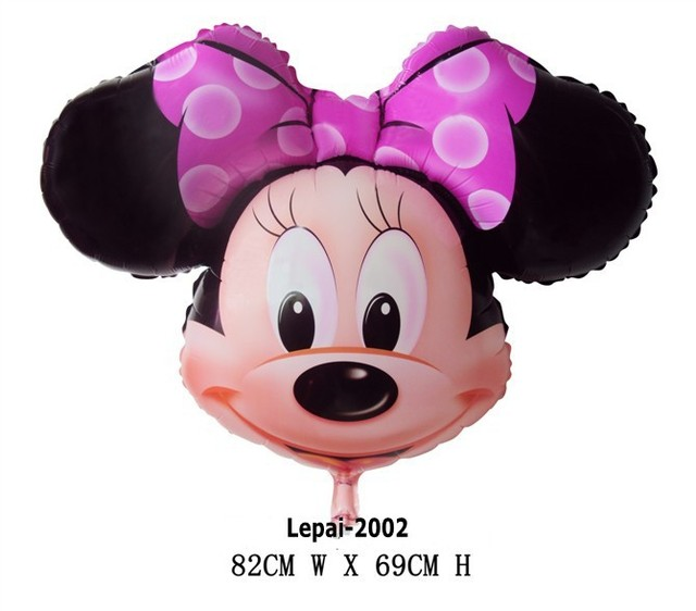Free shipping 10pcs/lots 32inch Minnie Mylar balloon , Large size Cartoon balloon , party decorate ,82X69cm