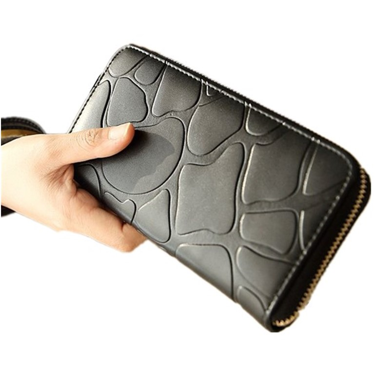 Fashion Europe and America ladies wallet embossed long zipper special design men and women wallet large-capacity wallet handbag