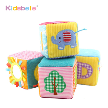 Soft Cube Rattle Mobiles Baby Toys Color Number Recognize Kids Early Learning Educational Crib Toy For Children Bell Ring
