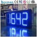 """Leeman 5 дюймов 5 """"GPS открытый светодиодные часы, времени, даты, температуры знак (Размеры и цвет подгонять) напольный 88: C/F Синий"""