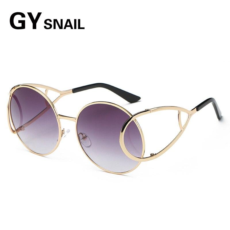 fdd30f0c7f6 GYSNAIL Vintage Round Big Oversized lens Mirror Brand Designer Pink Sunglasses  Lady Cool Retro UV400 Women Sun Glasses Female