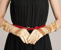 Kadın Açık Yaz Sürüş Eldiven Yaz Şerit Güneş Kremi Uv Koruma uzun opera eldiven