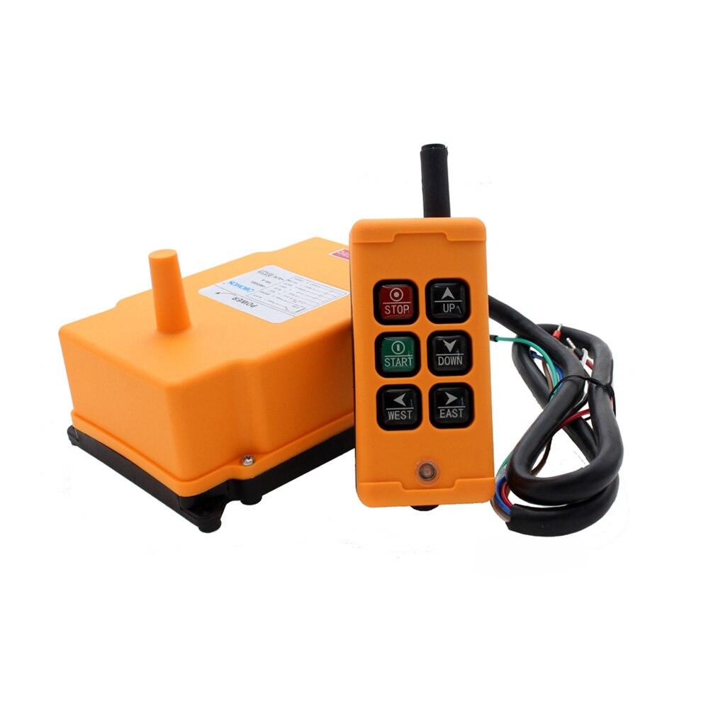Télécommande industrielle HS-6 transmetteur sans fil bouton poussoir commutateur grue contrôleur récepteur