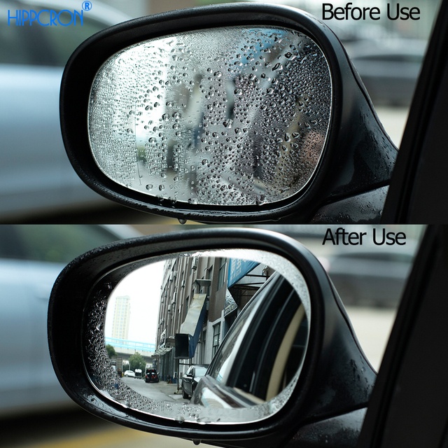 Anti Fog Car Sticker Car Mirror Window Clear Film Car Rearview Mirror Protective Film Waterproof 2