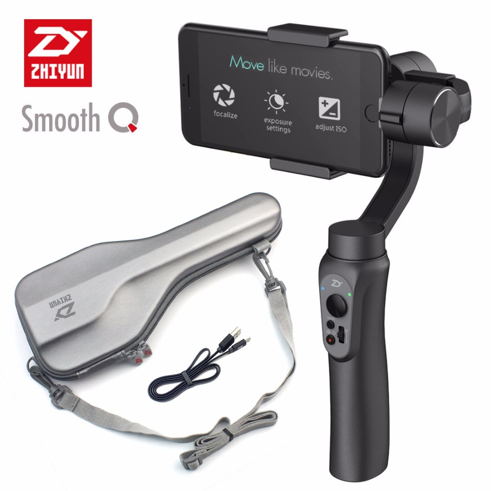 Zhiyun Smooth Q 3-Axis Handheld Gimbal Portable Stabilizer Smooth-Q for Smartphone iPhone X 8 7 Plus S6 S7 Vertical Shooting zhi yun zhiyun smooth 3 smooth iii 3 axis handheld smartphone gimbal stabilizer for iphone x 8 for samsung for gopro sjcam