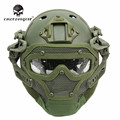 Emerson G4 System Set Tactical Airsoft Paintball PJ Helmet with Overall Protect Glass Face Mask Military Helmet Equipment