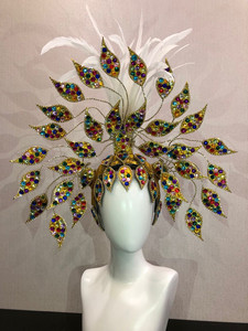Image 2 - Máscara flotante de Carnaval de Río, Brasil, Cuba, Santiago, La Habana, Venecia, Dionysia, vestido de baile de máscaras, disfraz de samba, plumaje, plume, Headd
