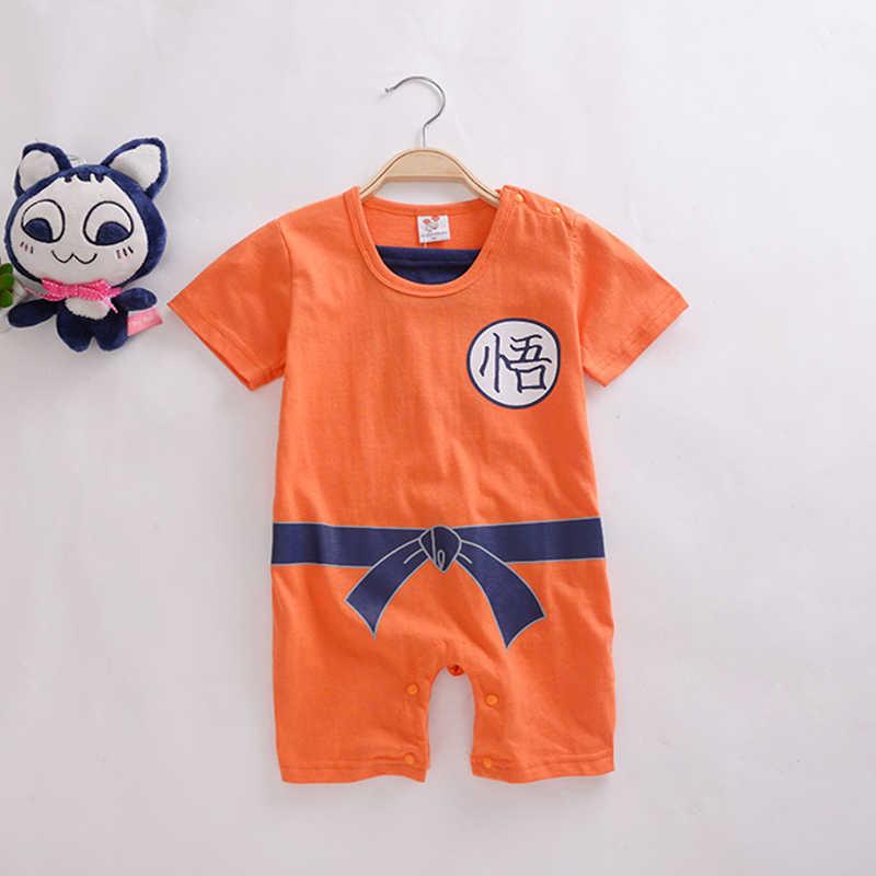 新しいドラゴンボール赤ちゃんロンパース新生児男の子服孫悟空幼児ジャンプスーツbebesハロウィン衣装赤ちゃん男の子女の子服