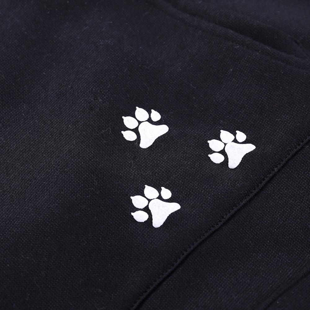 17 New Cartoon Hooded Hoodies Lover Cats Kangaroo Dog Hoodie Long Sleeve Sweatshirt Front Pocket Casual Animal Ear Hoodie 23