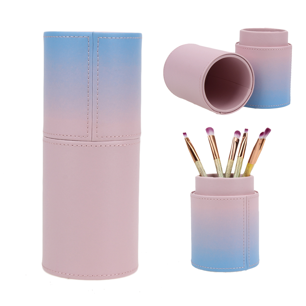 1pcs Empty Stylish PU Makeup Brursh Holder Case Cosmetic Brush Pen Container Special Beautiful Makeup Brush