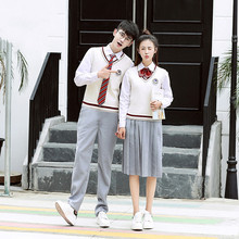 Female school uniforms  new style fashion summer college wind sweater high student suits
