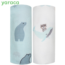 2 предмета в комплекте детское одеяло бамбук хлопковый муслин детские пеленки для новорожденных двойной Слои Марля банное Полотенца детские одеяла коляска крышка