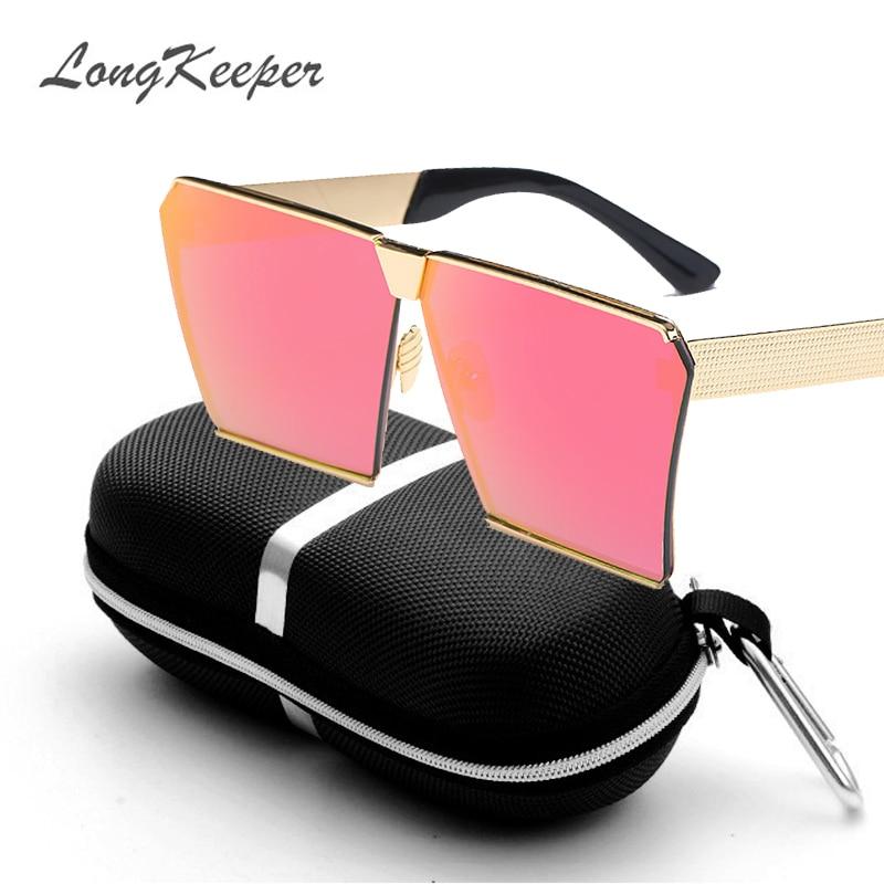 LongKeeper Nya färger Kvinnor Solglasögon Unika Oversize Shield - Kläder tillbehör - Foto 5