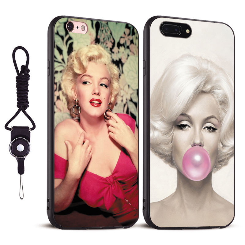 Marylin Monroe Tpu Soft Silicone Coque Phone Cases Shell Cover bag For Apple iPhone 5 5s Se 6 6s 7 8 Plus X XR XS MAX