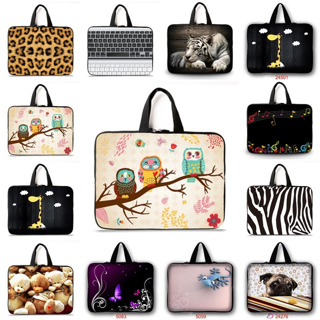 Support customization HD color printing notebook laptop bag sleeve case 9.7 10.1 12 13 14 15 17 15.6 for ipad macbook pro/air