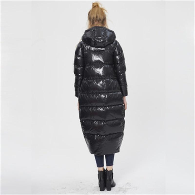 Grande Black Vers Le Manteaux D'hiver J764 Bas Femmes Vêtements Manteau Long Chaud Vestes De Down Femme Taille Parka 5RwnqBT