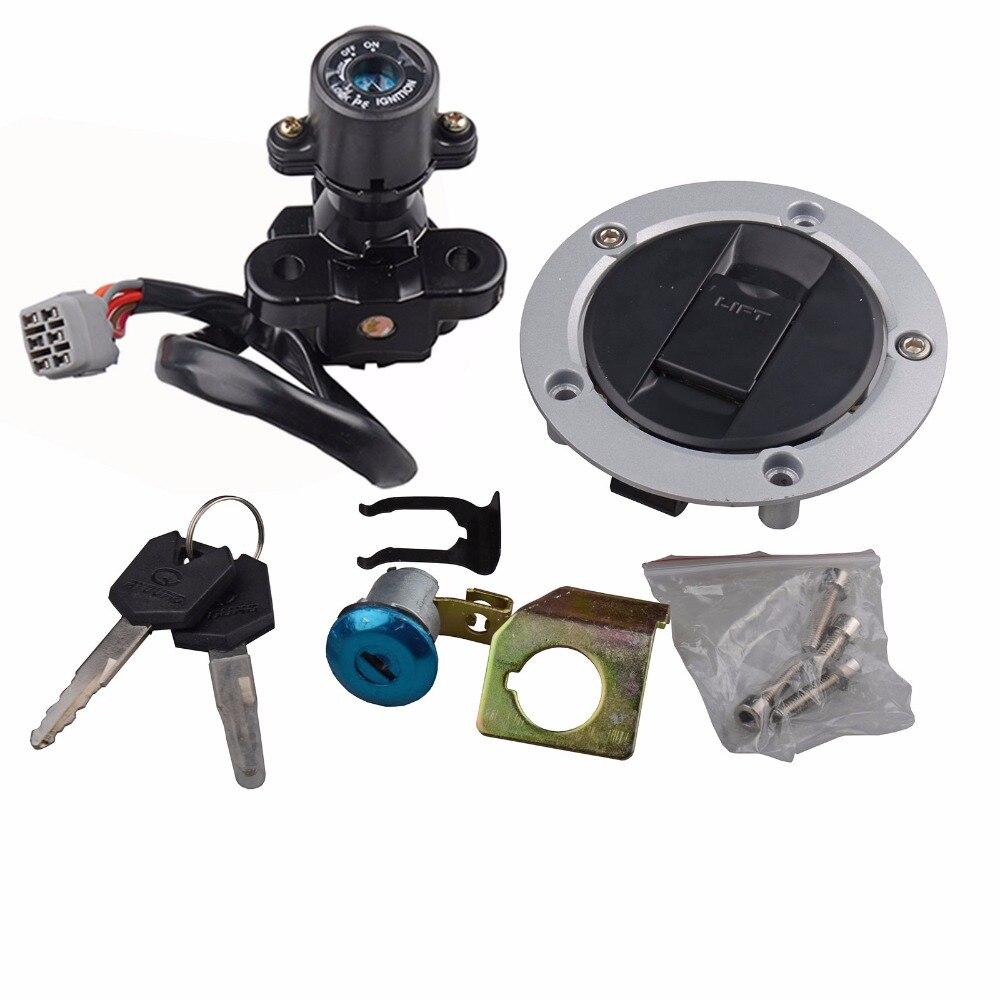 Interrupteur d'allumage Set bouchon de gaz serrure clé pour Suzuki GSXR 600/750 GSXR600 GSXR750 2006-2016 GSXR 1000 GSXR1000 2005-2017