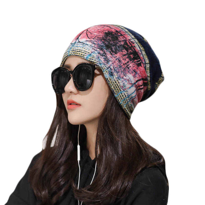 Fashion Autumn Winter Hats Women Casual   Skullies     Beanies   Cap Female Cotton Warm Elasticity Hats Spring Head Wear Hat Accessory