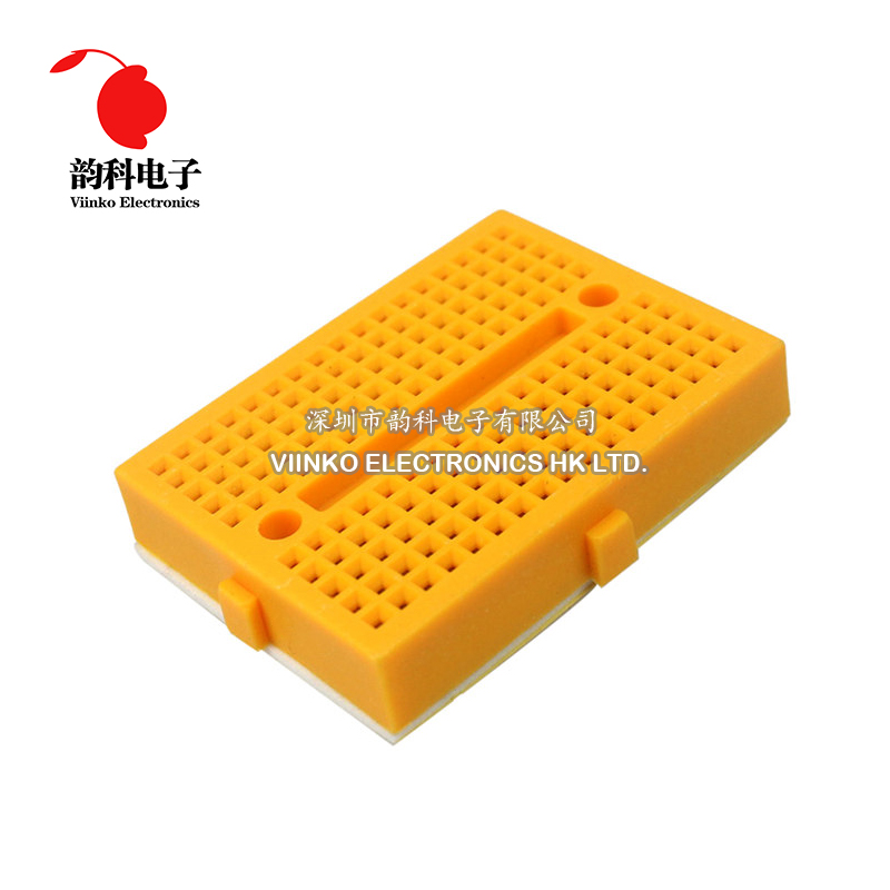 10PCS Mini Solderless Breadboard Prototype Test Develop 25 Points Yellow Green