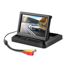 5 Inch 2 Video Input Foldable HD Car Rear View Monitor Reserving Digital LCD TFT Color Display Screen Vehicle Rearview Camera