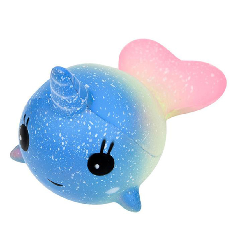 Cute Unicorn Whale Squishy Simulation PU Bread Soft Squeeze Toy Slow Rising Sweet Scented Anti Stress Funny For Kid Xmas Gift
