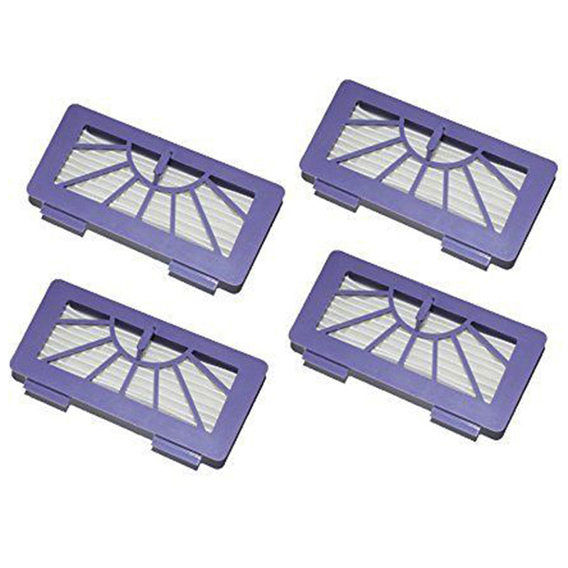 New 4Pcs / Lot Neato Filter Replacement Pack For XV-11 XV-12 XV-14 XV-15 XV-21 For Allergy Automatic Vacuum Cleaner XV Series neato spiral blade brush 6 piece brush blade and 1piece squeegee replacement pack xv 11 xv 12 xv 14 xv 15 xv 21