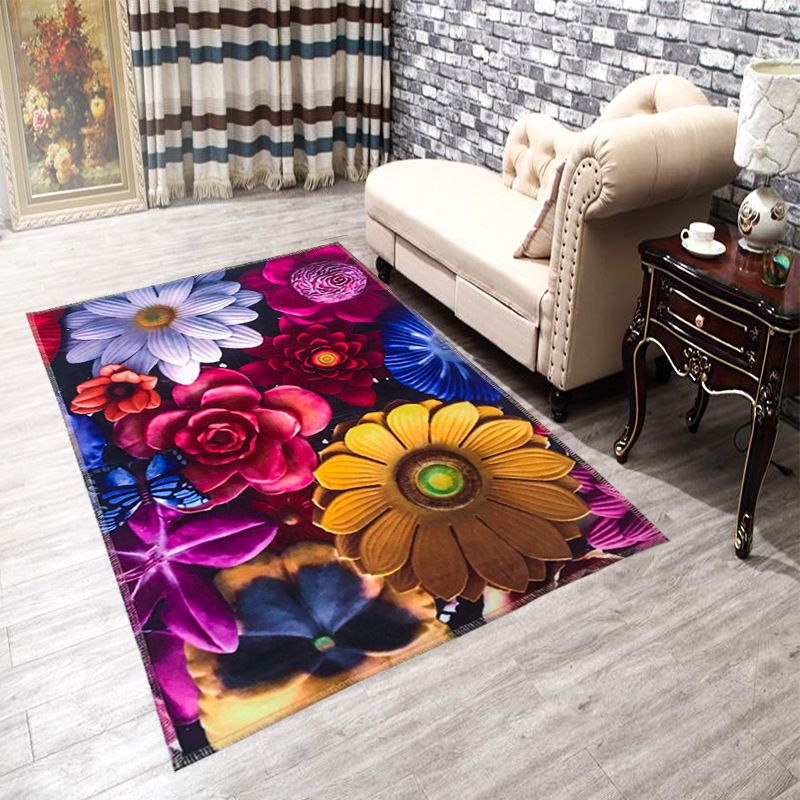 Hugsidea 60 90cm Cartoon Entrance Carpets 3d Printed