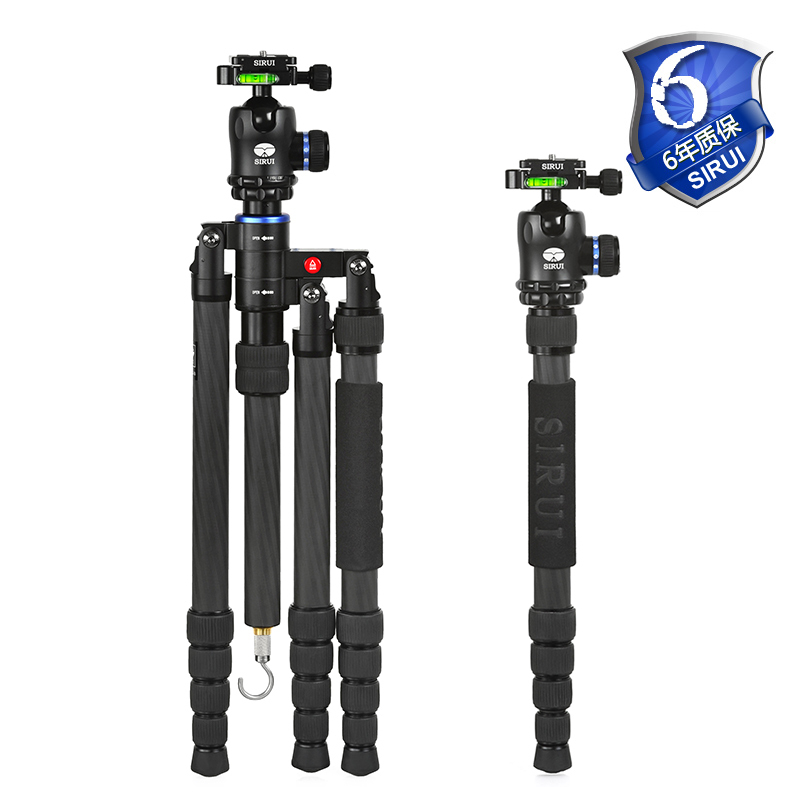Sirui Professional Camera Tripod Video Tripod/Dslr For Digital SLR Cameras New Carbon Fiber Unipod Monopod Light S2205N+K20X benro c38tds2 carbon fiber tripod kit bird watching monopod kit professional video camera slr tripod stable support for canon