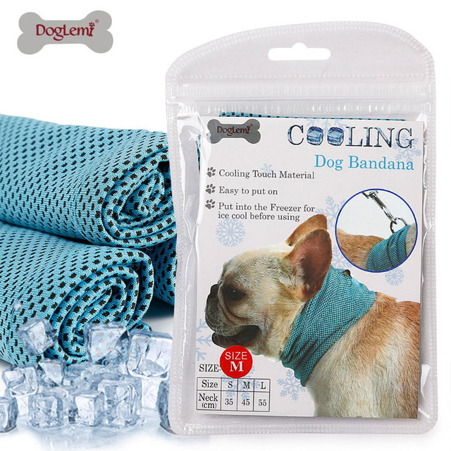 25d594131a6 Instant Cooling Pet Bandana Dog Scarf Bulldog Summer Cooling Towel Wrap Dog  Ice towel