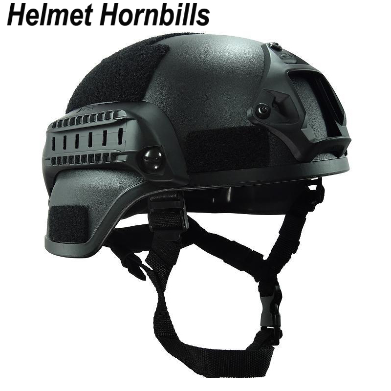 Helmet Hornbills Military Mich2000 Tactical Helmet Airsoft Gear Paintball Head Protector high quality outdoor airframe style helmet airsoft paintball protective abs lightweight with nvg mount tactical military helmet