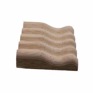 Image 4 - VZLX 家具木製彫刻アップリケヴィンテージ航海装飾キャビネットドア固体花柄彫刻木製アクセサリー