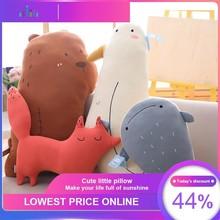 VOZRO Small Animal Neck Travel Body Pillow Cartoon Backrest Cushion Girl Boudoir Goods Furniture Almohada Travesseiro Poduszka