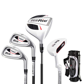 PGM Kinder Golf Clubs Set 4 Clubs Fahrer Holz Putter Eisen Mit Golf Stand Bag Für Kinder Kind Golf Training Ausrüstung A954