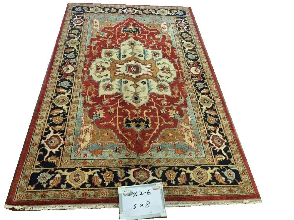 Oushak tapis tissé à la main coureur tapis chambre étage décoration pour salon modèle Art populaire chinois laine naturelle mouton laine