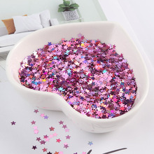 Ultrathin Glitter Paillettes 3mm Laser Silver Star Nail Sequin Eo-Friendly PET Sequins for DIY Nail Art Manicure Decorations 10g star shaped sequin manicure