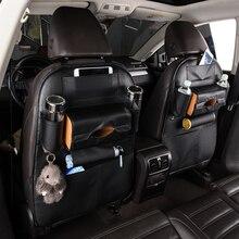 1PC Auto Car Organizer SeatBack Storage Bag Multi-Pockets PU Leather Hanging Holder Travel Multifunction Box for Kid