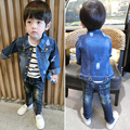 2016 Summer Fashion Children's Boys girl Kids Denim jacket Clothes Travel Long sleeveJacket  Fashion hole 18m-5T