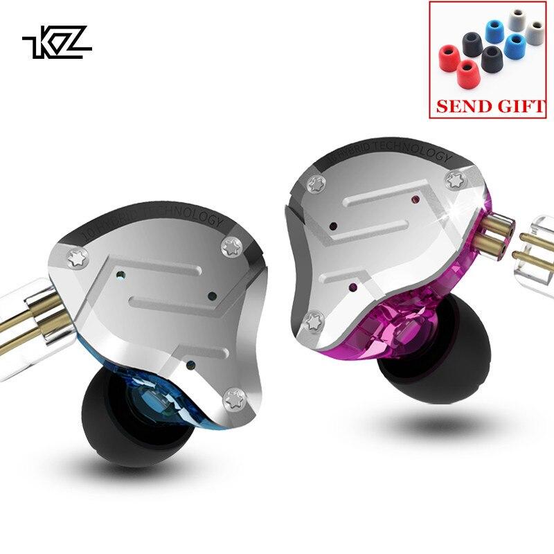 KZ ZS10 PRO 4BA 1DD Hybrid HIFI Metal Headset In ear Earphone Sport Noise Cancelling Headset