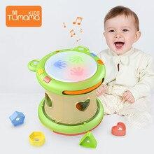 Tumama الطفل الموسيقى اللعب اليد الطبول الأطفال الآلات الموسيقية بات طبل ألعاب الأطفال 6 12 أشهر ألعاب تعليمية الأطفال الاطفال