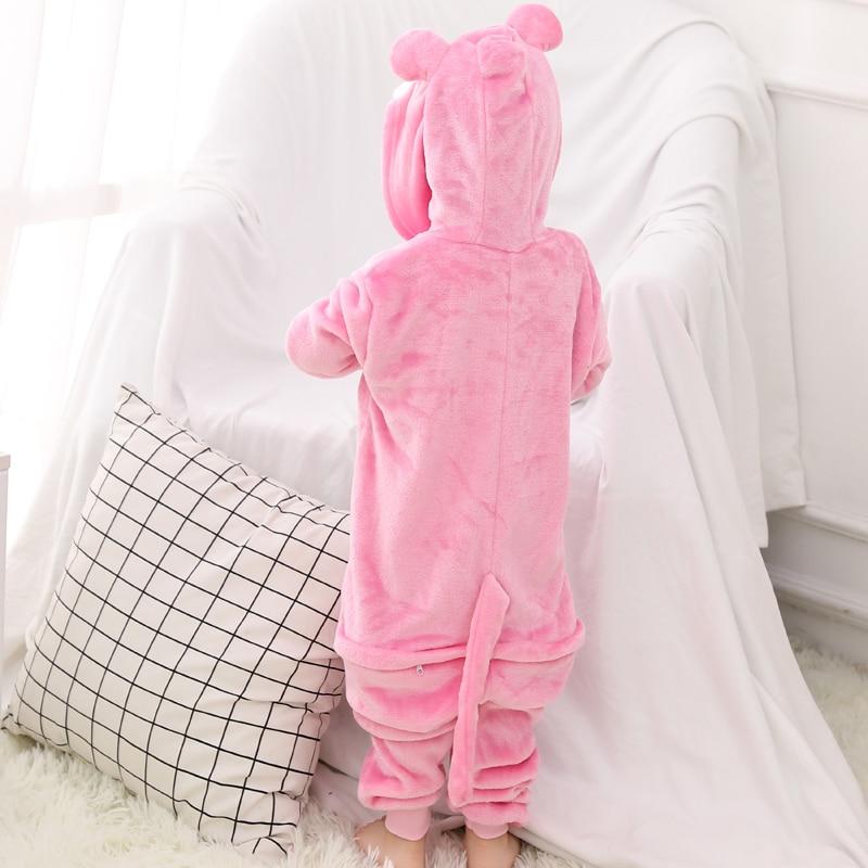 Funny Pink Panther Onesie Kids Kigurumi Pajamas Baby One-Piece Cartoon Animal Pyjamas Cosplay Children Jumpsuit Winter Sleepwear (4)