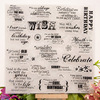 1 Sheet DIY Happy Birthday Candle Transparent Clear Rubber Stamp Seal Paper Craft Scrapbooking Decoration