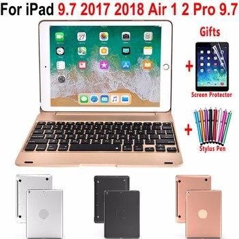 Folding Design Portátil Tampa Do Teclado Sem Fio Bluetooth para Apple iPad 9.7 2017 2018 6th Geração 5th Air 1 2 5 6 Pro 9.7 Caso