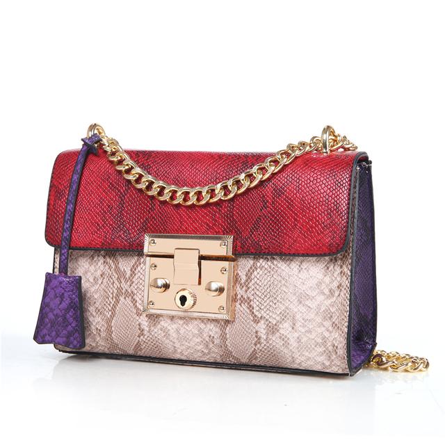 Luxury Handbags Women Bags Designer Serpentine Crossbody Bags for Women 2017 Famous Brands Messenger Bag Female Sac a Main Femme