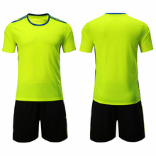 2019 adult new short-sleeved football jersey suit training custom name logo