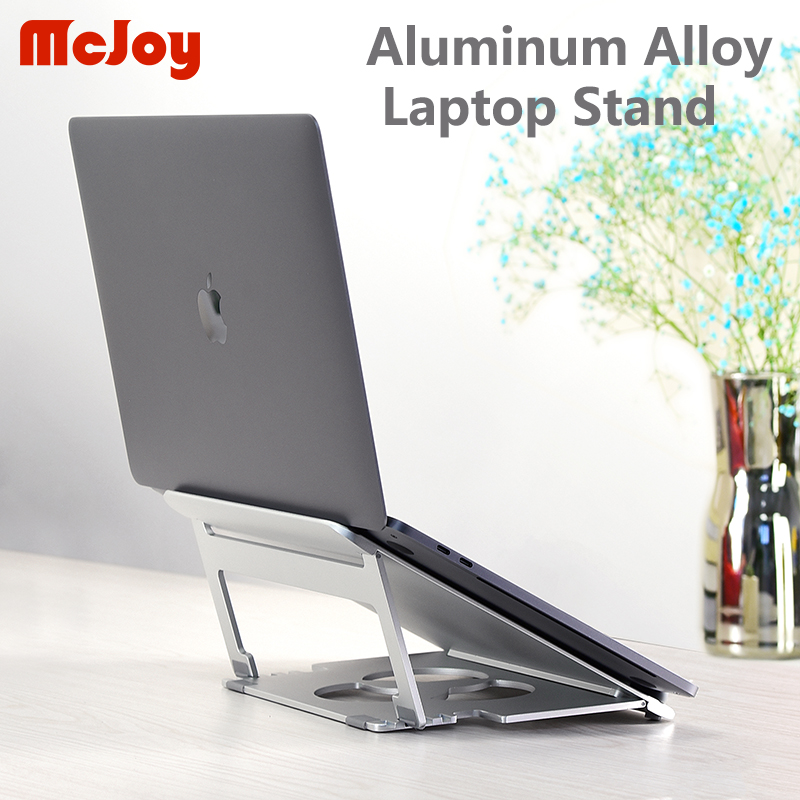 aluminum alloy Folding Portable Dual-purpose design Aluminum Alloy Laptop Stand Bracket Cooler Cooling Pad for 10-17inch Notebook (1)