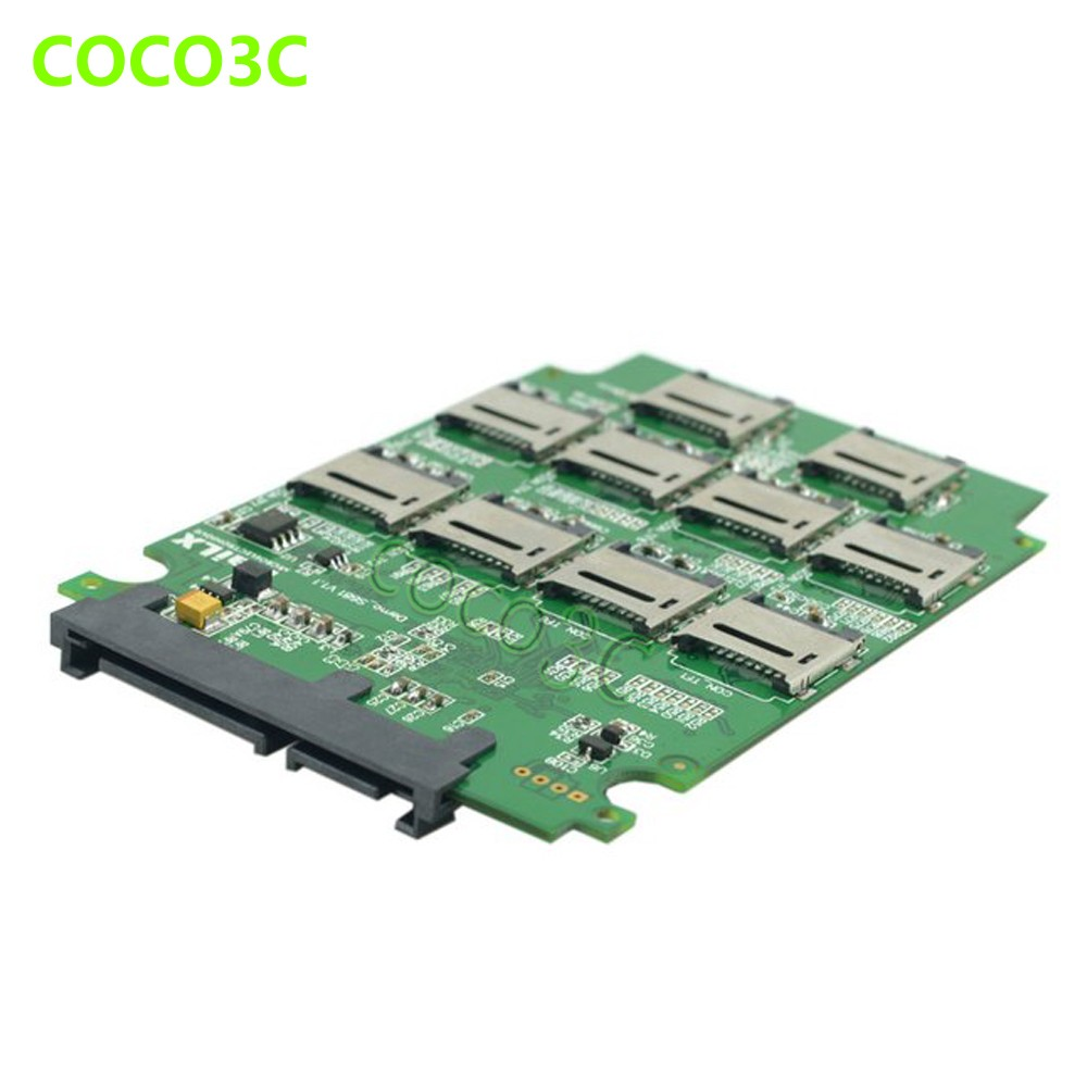 10 TF card to 2.5 inch sata 6Gbps 3.0 ssd adapter RAID0 Conveter