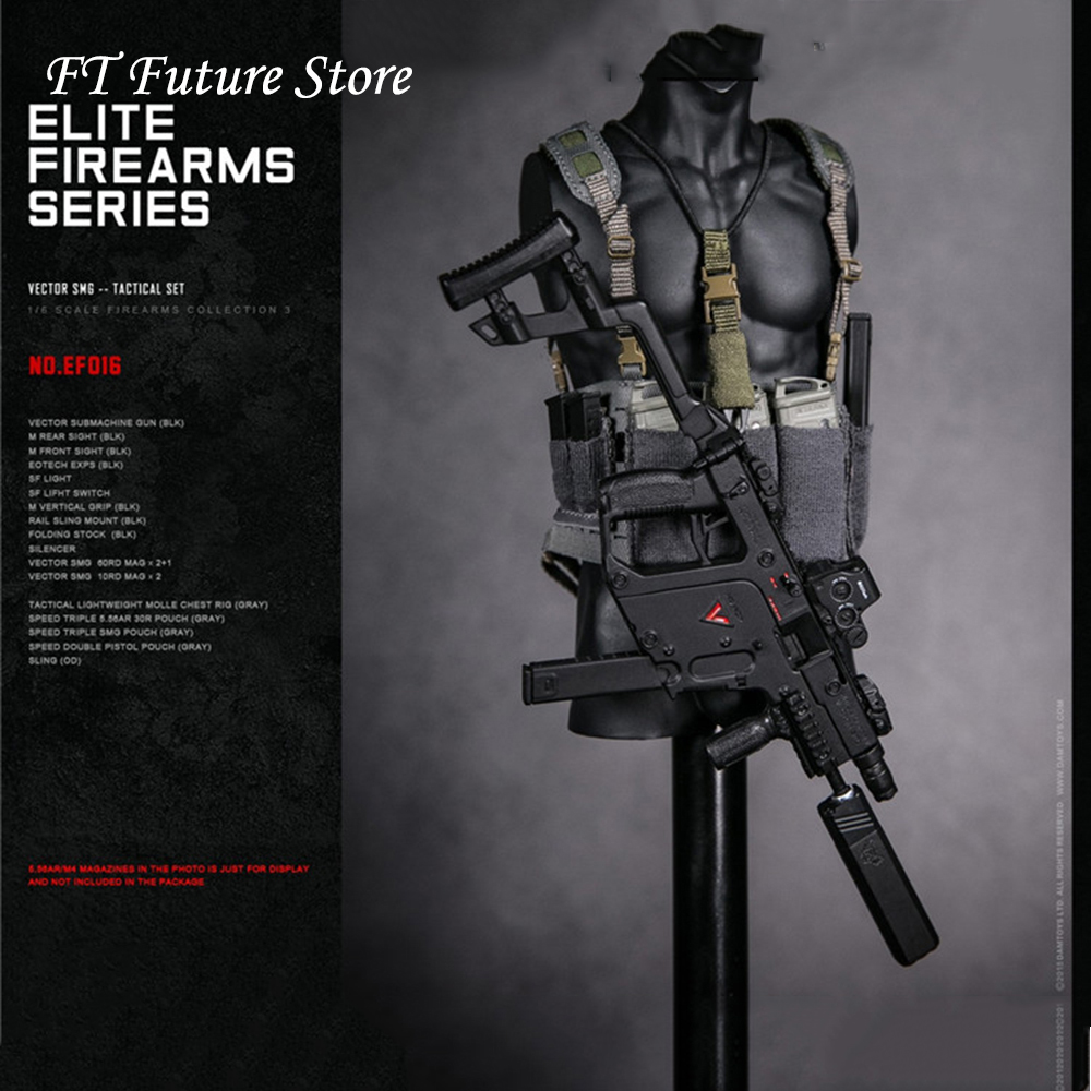 1/6 Solider Figure Accessory Tactical VECTOR Submachine Gun Set Weapon Toys Figure Firearms Model For 12'' Figure Accessories