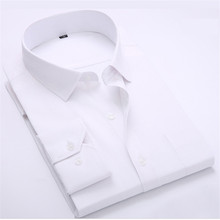 Mens Formal Business Shirts Casual Slim Long Sleeve Dresse Shirts 2016 Twill Men Dress Shirts White Male Shirts High Quality