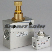 """5 шт. 1/8 """"резьба KLA 06 контроль скорости клапан управления потоком, пневматический челночный клапан, 1/8 дюйма односторонний Дроссельный клапан"""